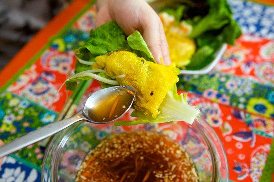 Vietnamese Crepe with Sauce