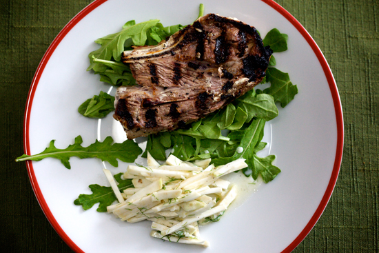 Grilled Lamb Shoulder Chop
