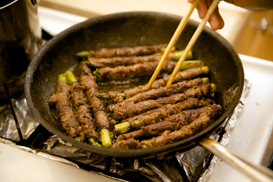 Cooking The Asparagus Beef
