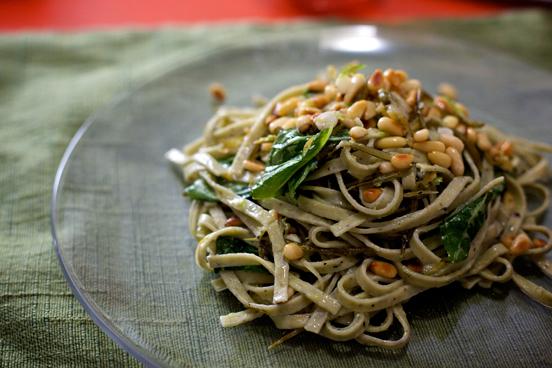 Garlic Scape Tagliatelle