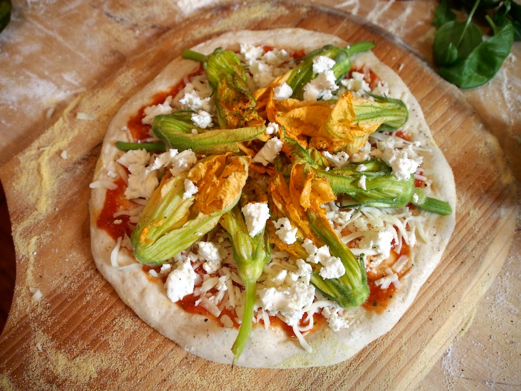 Squash Blossom Pizza | Tasty Crush